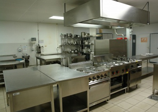 commercial kitchen stainless steel
