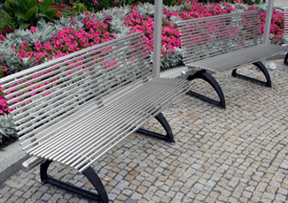 Chilhowee, TN Stainless Steel Bench